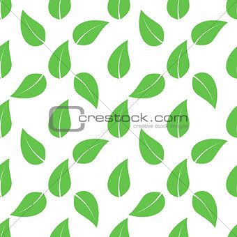 green seamless leaves