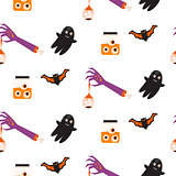Halloween vector seamless pattern.