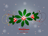 Christmas flourish over glowing background