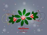 Christmas flourish over glowing background