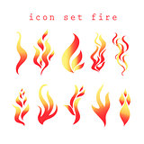 Vector symbols of fire