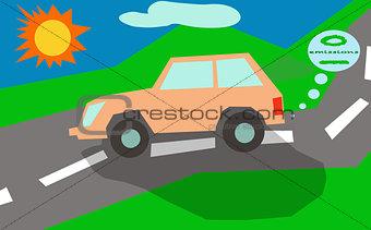 car zero emissions sun eco