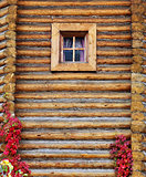 Russian rustic wooden house