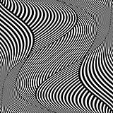Op art wavy lines pattern.
