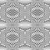 Seamless meshy op art pattern. 3D illusion.