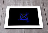 Graphic tablet computer pc gadget letter symbol