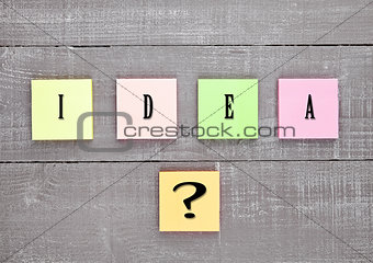 Blank different colors sticky note paper idea