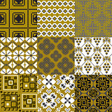 9 retro floral geometry seamless patterns