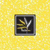 Abstract ink hand drawn pasta Seamless patterns