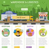 Warehouse and logistics infographics