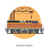 Railway Freight concept