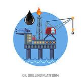 Oil drilling platform concept