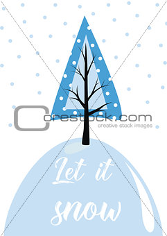 Christmas card template.  illustration. New Year collection. Greeting seasonal for scrapbooking and invitations.