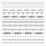 Vector Hand Drawn Tileable Line Borders, Dividers,