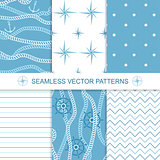 Set of sea and nautical backgrounds