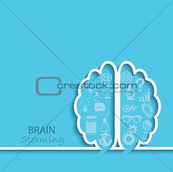 Brainstorm concept, vector.