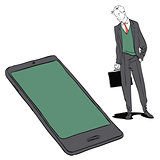 Businessman and smartphone