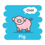 Cute pig vector illustration