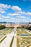 gardens of Belvedere Palaces, Vienna, Austria