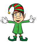 Cute Cartoon Character Christmas Elf