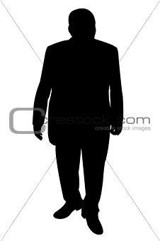 a man body silhouette vector
