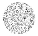 floral hand drawn pattern