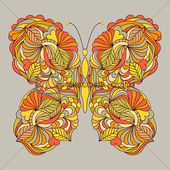 abstract butterfly on gray background