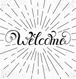 handwriting inscription welcome