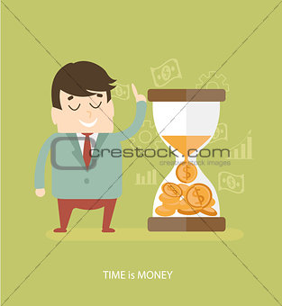 Time is money - business concept.