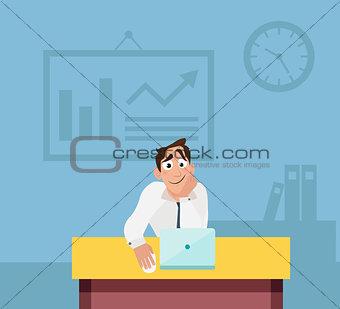 Office worker work in office