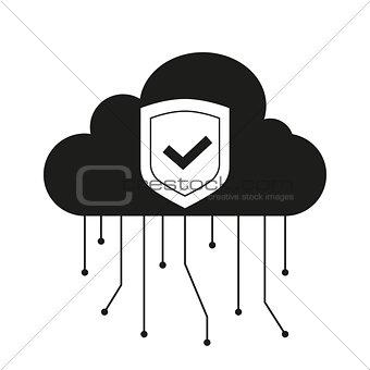 Black Data cloud icon
