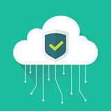 Vector illustration of white cloud and connections