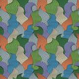 Color seamless abstract hand-drawn pattern, waves background