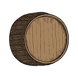 Wooden barrel top object