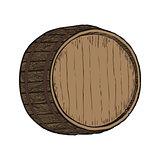 Wooden barrel top object
