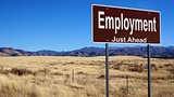 Employment brown road sign