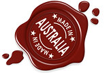Label seal of made in Australia