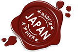 Label seal of Made in Japan