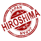 Red Hiroshima stamp