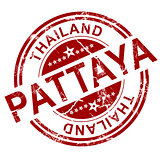 Red Pattaya stamp
