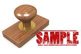 Sample wooded seal stamp