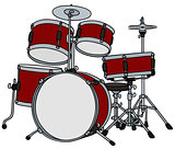 Red percussion set