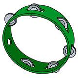 Green plastic tambourine