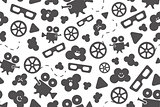 Seamless pattern of movie design elements