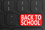 Back to School on black keyboard