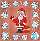 Christmas composition greeting card 7