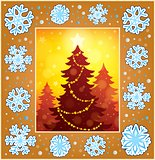 Christmas decorative greeting card 1