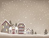 Stylized Christmas village theme image 1