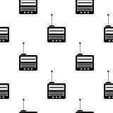 Retro Old Radio Icon Seamless Pattern