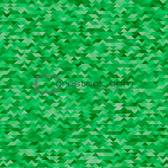 Abstract Mosaic Green Triangles Background